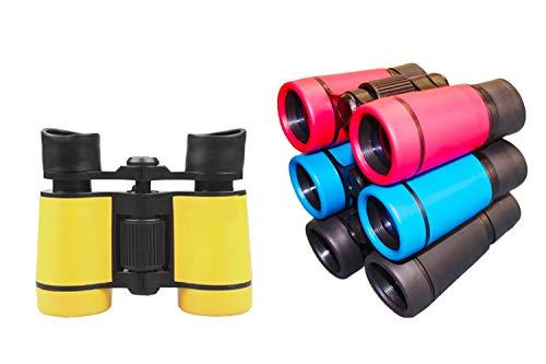 LUCKSTAR® 4X30 Plastic Folding Binoculars Telescope, Gift Toy Binoculars Party Favors for Kids Outdoor (1 Set of 4 (Best Binoculars For Huntings)