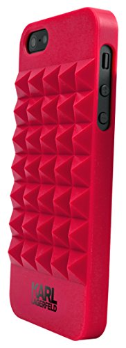 Karl Lagerfeld 3D Studs TPU Schutzhülle für Apple iPhone 5/5S rot
