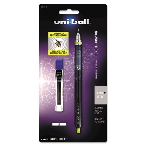 uni-ball KuruToga Mechanical Pencil, 0.7mm, HB #2, 1 (Sanford Diamond Infused Lead)