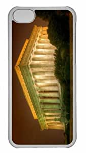 Customized iphone 5C PC Transparent Case - The Lincoln Memorial Personalized Cover