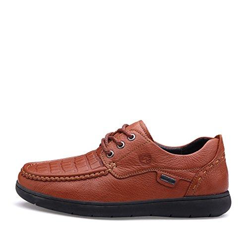 Prossebull Heren Casual Mode Lederen Schoen (eur 42, Roodbruin) Oranje