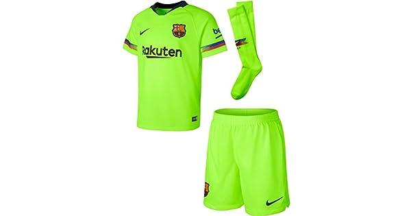 Amazon.com: Nike 2018-2019 Barcelona Away - Mini kit para ...