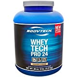 Cheap BodyTech Whey Tech Pro 24 Protein Powder Protein Enzyme Blend with BCAA's to Fuel Muscle Growth Recovery, Ideal for PostWorkout Muscle Building Cookies Cream (5 Pound)
