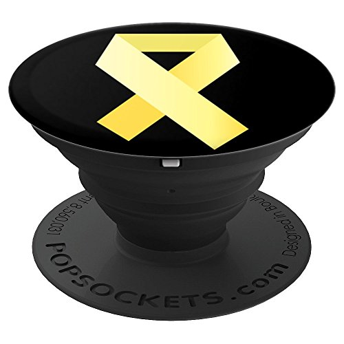 - Sarcoma Bone Cancer Yellow Support Ribbon - PopSockets Grip and Stand for Phones and Tablets