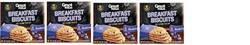 Great Value Breakfast Biscuits, Blueberry, 5 Ct (Pack of ()