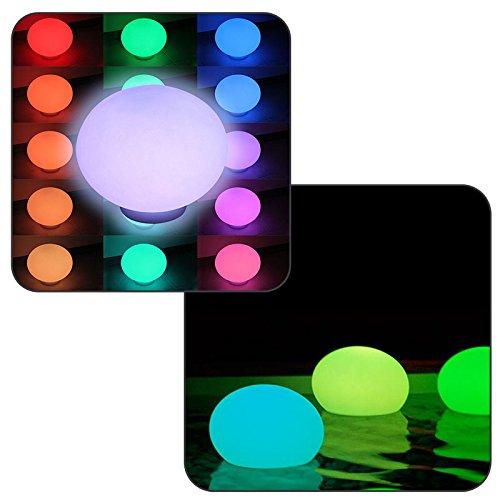 Linxor France ® Flatball, lampe led flottante 35cm x 35cm x 24cm rechargeable + Télécommande - Norme CE