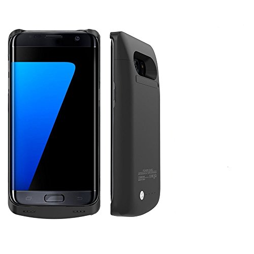 Galaxy S7 Edge Battery Case,External Battery Case,5200 mAh Slim Protective Portable Charging Case for Samsung Galaxy S7 Edge,Rechargeable Power Bank Case(Black)(Not For Galaxy S7)