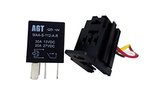 amazon com genssi car 30a 12v spst micro relay kit for electric fan rh amazon com
