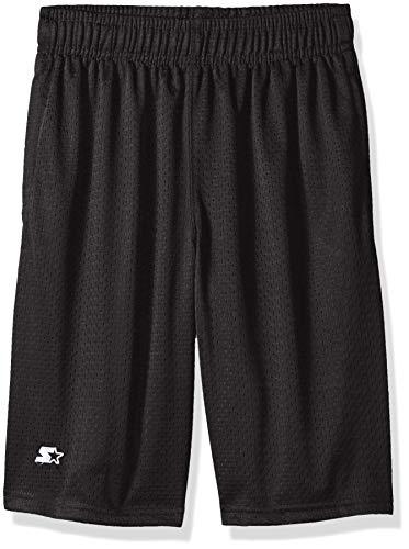 Shorts Boys Adjustable - Starter Boys' Mesh Short with White Logo, Grey, L (12/14)