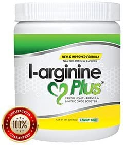 L-Arginine Plus Lemon Lime – L-arginine Formula for Blood Pressure, Cholesterol and More Energy. The 1 Heart Health Supplement 13.4oz.