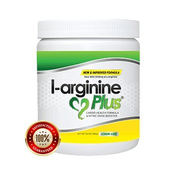L-Arginine Plus Lemon Lime - L-arginine Formula for Blood Pressure, Cholesterol and More Energy. The #1 Heart Health Supplement (13.4oz.)