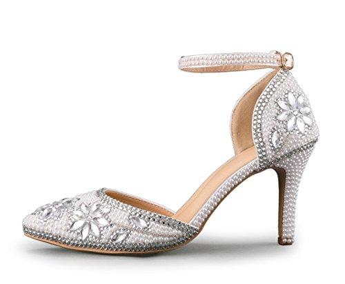 Femme Minitoo 9cm Argenté 36 5 pour MinitooEU Silver Escarpins MZ8297 EU Heel wUUqaBZ