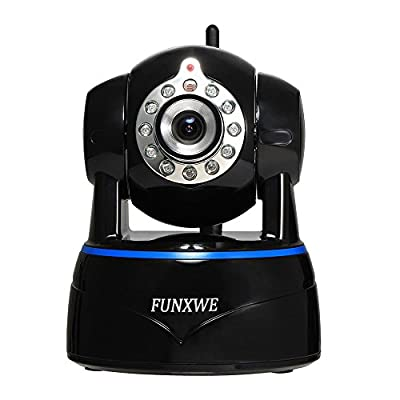 Funxwe 1080P WiFi IP Camera 2.0MP Megapixel P2P Wireless Onvif Wide Angle PTZ Night Vision Audio Surveillance Motion Detection Memory TF SD Card Slot Black FG14 from Funxwe Technology Co,. Ltd.