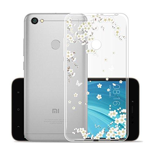 Funda para Xiaomi Redmi Y1 / Redmi Note 5A Prime , IJIA Transparente Hojas de Plátano Verde TPU Silicona Suave Cover Tapa Caso Parachoques Carcasa Cubierta para Xiaomi Redmi Y1 / Redmi Note 5A Prime ( WM91
