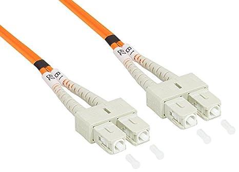 Violett//Pink 2 m Good Connections connettore in fibra ottica Duplex LC a SC multimodale 50//125/onde di luce della testa cavo Patch rosa OM4