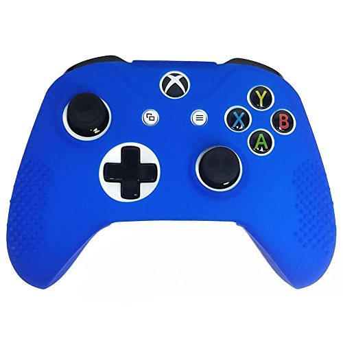 SlickBlue Soft Flexible Silicone Gel Rubber Dotted Grip Protective Case Cover For Xbox-One Game Controller – Blue [Xbox One] For Sale