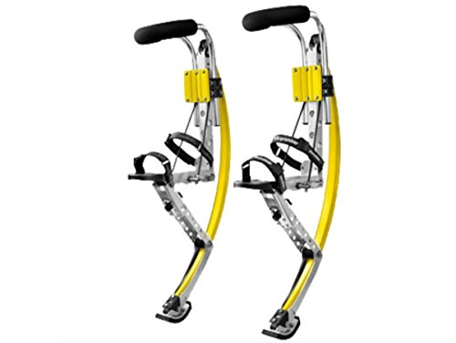 Adult Kangaroo Shoes Men Jumping Stilts Men Women Fitness Exercise (110~150 Ibs/50~70kg) Bouncing shoes (yellow) by Skyrunner