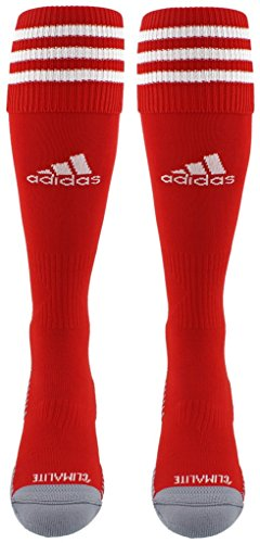 adidas Copa Zone Cushion III Soccer Socks (1-Pack), Red/White, Medium -