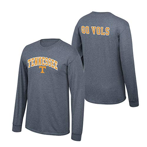 Volunteers Sleeve Tennessee Long (Elite Fan Shop NCAA Men's Tennessee Volunteers Long Sleeve Shirt Dark Heather Back Tennessee Volunteers Dark Heather X Large)