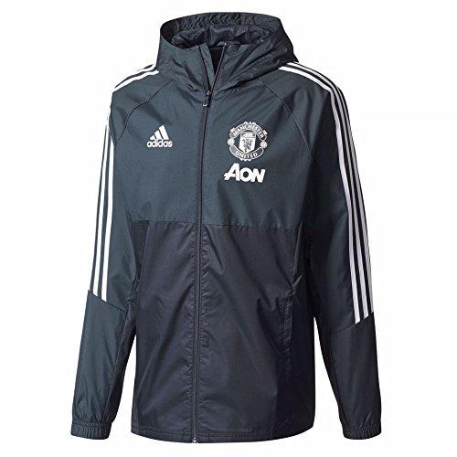 2017-2018 Man Utd Adidas Training Rain Jacket (Night Grey) (Jacket United Training)