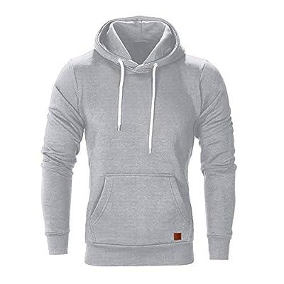 Easytoy Hoodies for Men, Mens Solid Slim Fot Pullover Hooded Sweatshirt Kanga Pocket