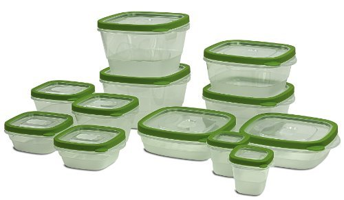 24 Piece Food Storage Container Set   12 BPA Free Plastic Containers With  Snap Tight Lids