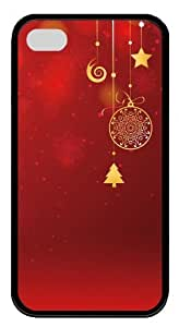 discount iphone 4 cases Christmas decorations and red TPU Black for Apple iPhone 4/4S