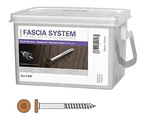 Deckfast Stainless Steel Fascia Screws 9 x 1-7/8