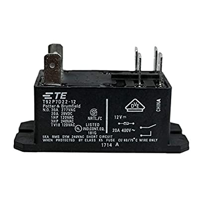 TE CONNECTIVITY/Potter & BRUMFIELD T92P7D22-12 Power Relay, 12VDC, 30A, DPST-NO, Flange (Pack of 2): Industrial & Scientific