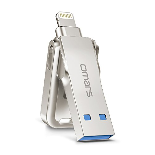 Omars iPhone Flash Drive,64/128G 3.0 USB Memory Stick with 5mm Extended Lightning Connector, Apple MFI Certified for iPhone, iPad (128G Sliding)