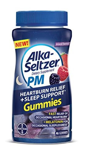 Alka Seltzer PM Heartburn Relief Plus Sleep Support, 46 Count (1 Bottle) ()