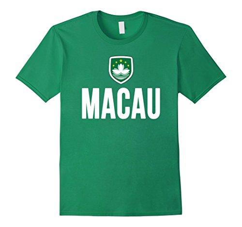 Mens Macau Flag T-shirt Large Kelly Green