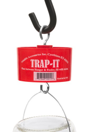 Bird Feed Ant Trap - Protect Bird Feed and Nectar From Ants With the Trap-It Moat (Red)