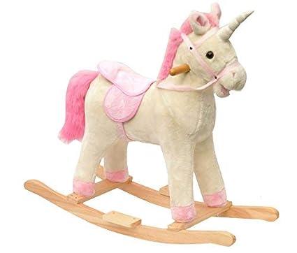 EXCOLO - Caballo balancín de Unicornio en Color Blanco con ...