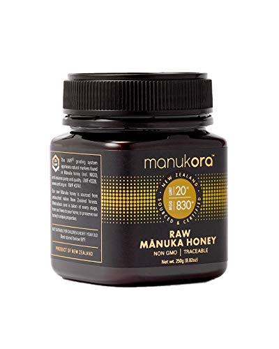 Manukora UMF 20+/MGO 830+ Raw Mānuka Honey (250g/8.8oz) Authentic Non-GMO New Zealand Honey, UMF & MGO Certified, Traceable from Hive to Hand by Manukora (Image #2)