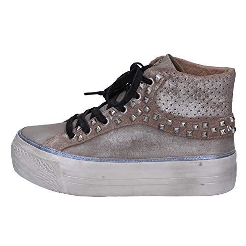 Marrone Crime Donna Pelle Sneaker Scamosciata 6wp0Zv6q