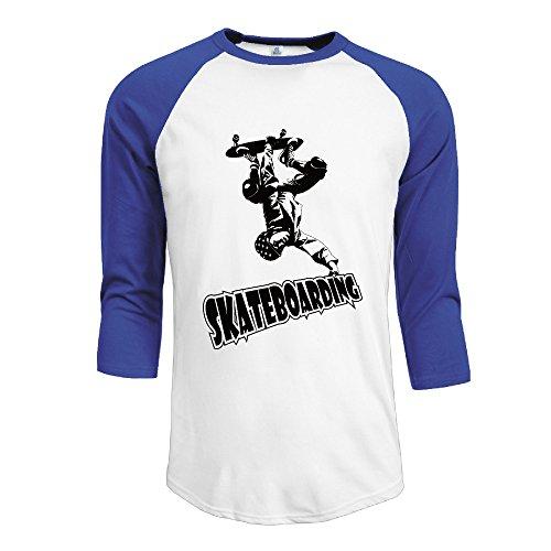 - Men's Skateboarding Half Sleeve Sleeve Baseball Tees