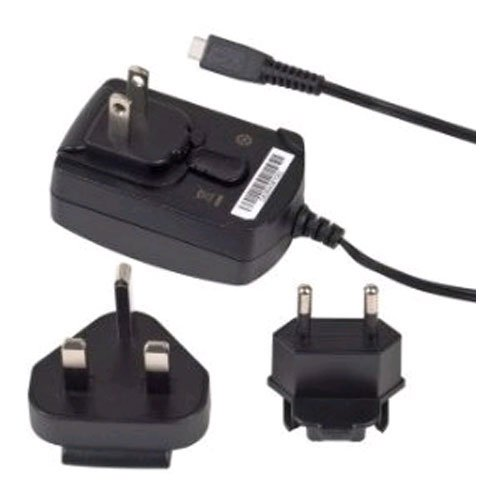 BlackBerry Micro-USB Travel Charger with Global Adapter Clips - Original OEM ASY-18080-001 ASY-18080-003 ACC-39344-301 (Blackberry 9100 Original)