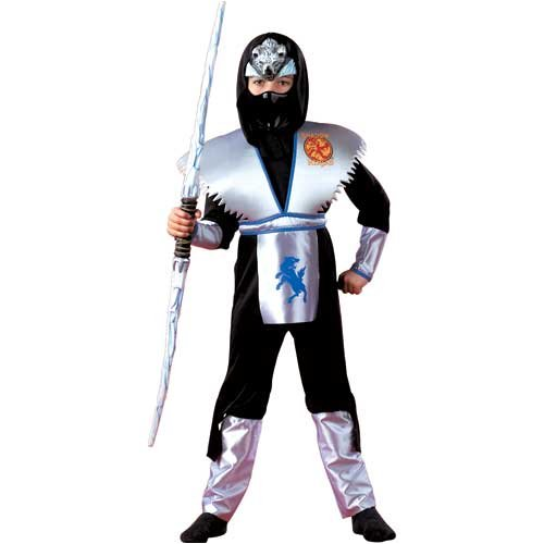 Shadow Ice Wolf Ninja Child Costume Small