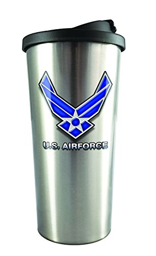 Spoontiques 20831 U.S. Air Force Stainless Steel Travel Mug, Silver