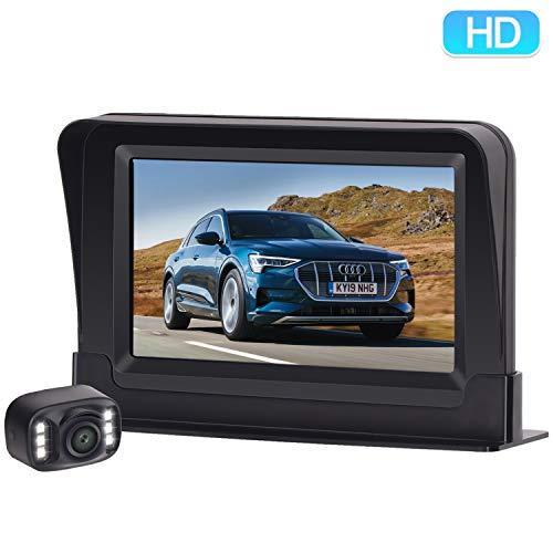 ZSMJ Backup Camera Wireless 5 inch Mirror Monitor Kit Parking Reverse Camera For Car Verhicle SUV RV Night vision Waterproof Dohonest