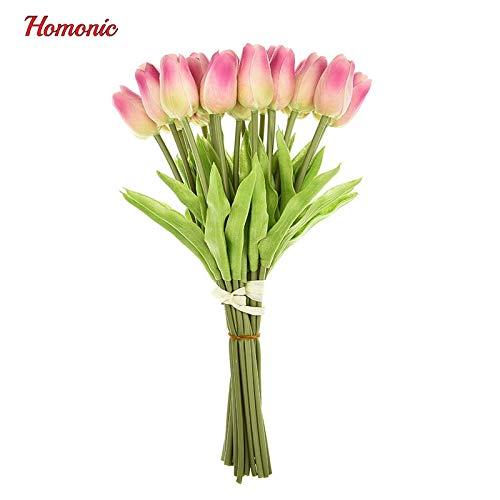 (Annibus Flower Tulip: 21pcs/lot Tulip Artificial Flower PU Latex Artificial Bouquet Real Touch Flowers for Home Wedding Decorative Flowers&Wreaths P35)