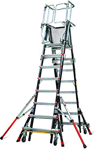 Little Giant Ladder Systems 18515-240 Aerial Safety Cage Fiberglass, 8'-14' (Step Safety Giant Little)