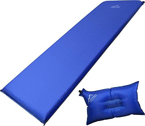 Selbstaufblasbare Luftmatratze inkl. Kissen zum Outdoor Camping Farbe SurfBlue/DarkShadow Größe 193 x 61 x 5 cm