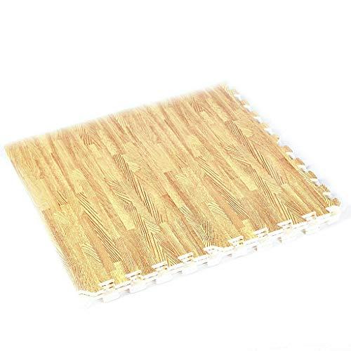 Allbest2you 12Pcs Puzzle Floor Mat EVA Interlocking Foam Gym Show Exercise Pad 48 Sq Ft Wood Color