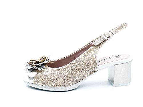 PITILLOS Women's Fashion Sandals Gold 3eh1SXofq