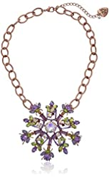 "Betsey Johnson ""Spring Fling"" Mixed Faceted Round Necklace"