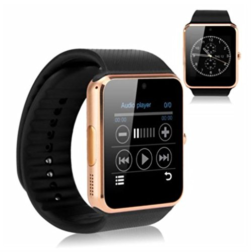 GOLD - GT08 Bluetooth Smart Wrist Watch GSM Phone For Android IOS iPhone Smartphone
