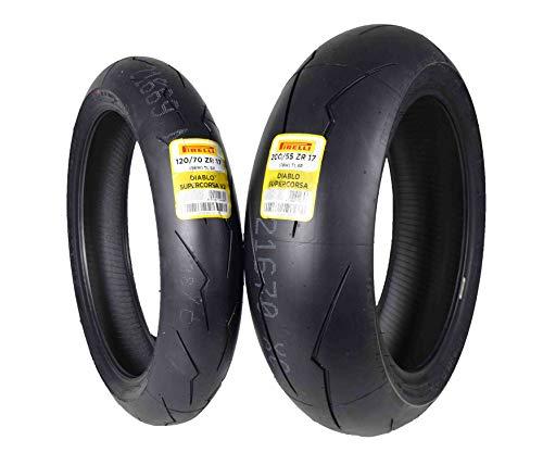 Pirelli Diablo Supercorsa V2 Front &/or Rear Street Sport Super bike Motorcycle Tires (1x Front 120/70ZR17 1x Rear 200/55ZR17)