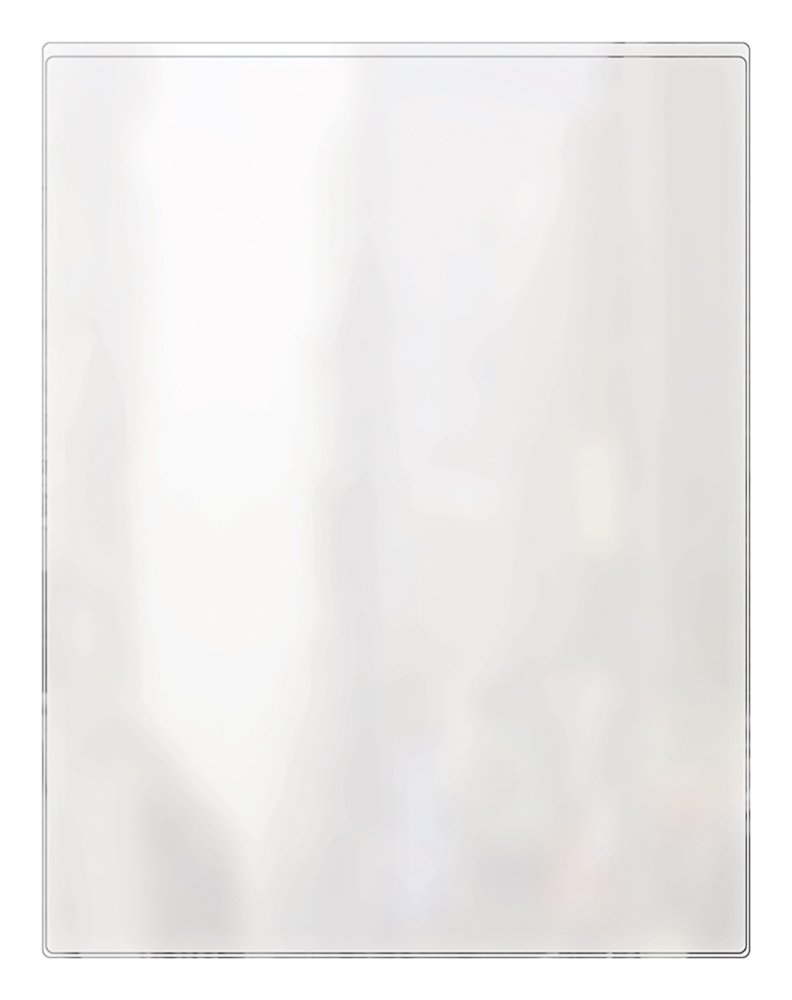 Risch 100 8.5X11 Heat Sealed Vinyl Menu Cover Single Pocket 2 View, All Clear, 8.5'' x 11'' (Pack of 24)